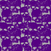 Skull Pattern In Purple