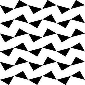 Tri Zag No. 2 - Black Triangles on White
