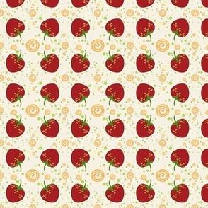 Summer Strawberry Swirl Pattern - Small