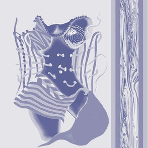 Unlaced - Undone, Belly Dancer, Blue, Perwinkle, Purple, Large