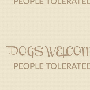 Dogs Welcome Pillow Text