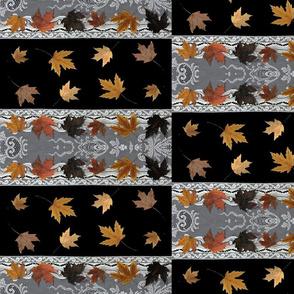 Leaves & Lace - tan & black blocks