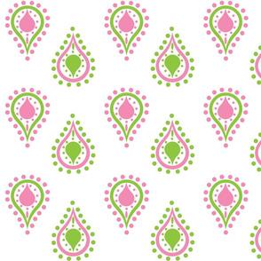 paisley raindrops -preppy pink