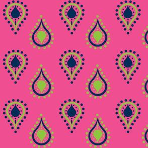 paisley raindrops - blueberry crush