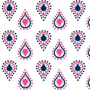 paisley raindrops - blueberry