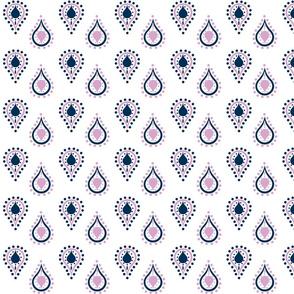 paisley raindrops - SMALL lavender