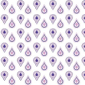 paisley raindrops - SMALL purple passion