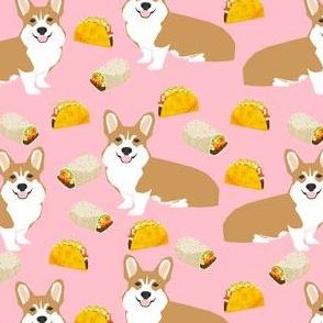 corgi dogs fabric cute corgi dogs tacos burrito funny dogs fabric