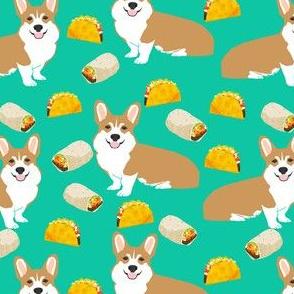 corgi taco burrito dogs fabric cute corgis dogs fabric dog fabric
