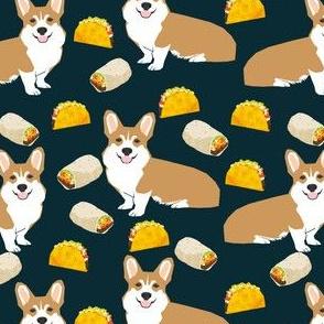 corgi taco burrito corgis cute dog food cute dogs fabric