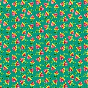Tiny_sunflowers_Teal