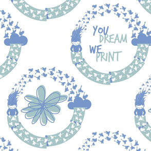 The circle of Spoonflower (2 colors)