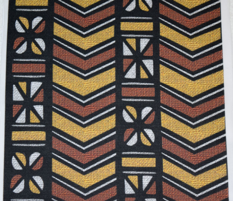 Mudcloth Inspired Chevrons Pinwheels and Cowrie Shells