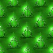 potter's deathly hallows - green