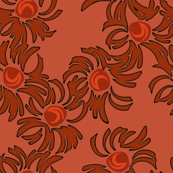 Asters-Coral Red