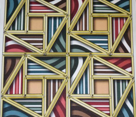 Pythagorean Framed Stripes with fake gold