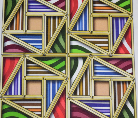 Pythagorean Framed Bright Stripes with fake Gold