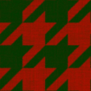 Houndstooth Check ~ Christmas ~ Parc Aux Cerfs and Turkey Red ~ Flannel