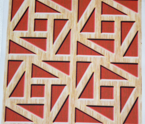 Pythagorean Frames Carved and Stained Wood