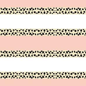 Cheetah Stripes Horizontal  -  Peach Snow