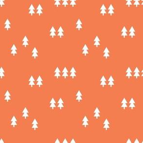 forest on citrus orange || wholecloth coordinate