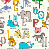 One-liner Alphabet Animals