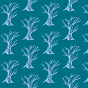 Windswept WinterTrees - onTeal