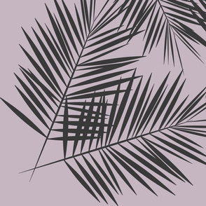 Palm leaves - graphite on lavender Palm leaf Palm tree tropical summer || by sunny afternoon