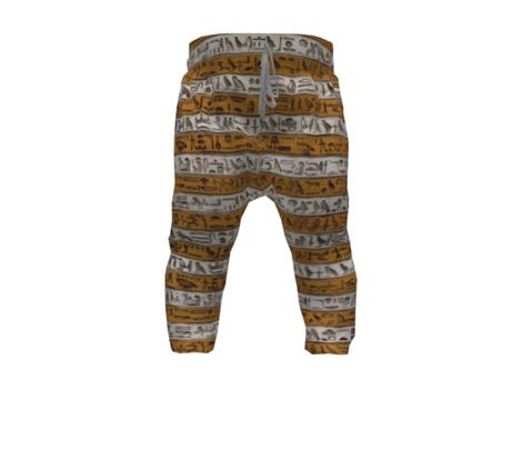 Egyptian Hieroglyphic ochre stripes
