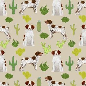 brittany spaniel cute dog fabric cactus dog fabric sporting dogs gun dog fabric