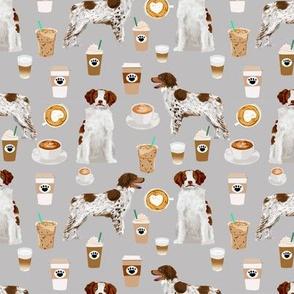 brittany spaniel coffee fabric cute coffees lattes dog fabric sporting dogs fabric