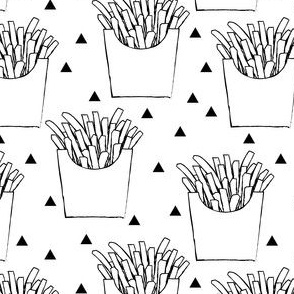 french-fries-black-and-white