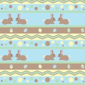 Bunnies on Blue
