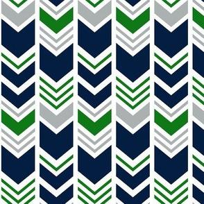chevron - navy/grey/custom green