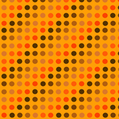 Orange and Brown Dots