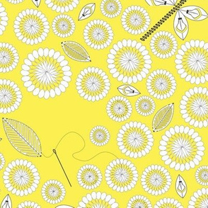 Spoonflower_A_Blooming_Community yellow