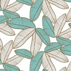 Tropical Leaves Teal small