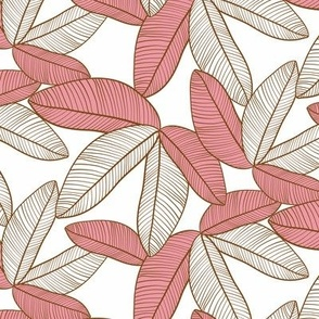 Tropical Leaves Dusty Rose small