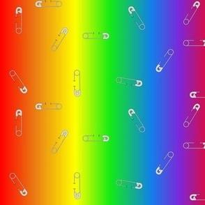 safety pin rainbow