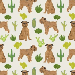 brussels griffon cactus dog fabric cute desert palms print tropical palm print dogs fabric