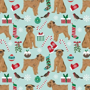brussels griffon christmas dog fabric cute pets fabric dogs design