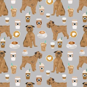 brussels griffon grey coffee fabric cute coffees and dogs design