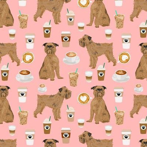 brussels griffon pink dogs fabric cute coffees fabric best coffee latte