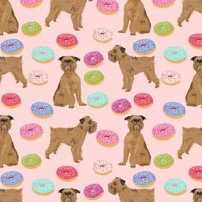 brussels griffon pink donuts fabric cute pink food kawaii cute pet dog fabric