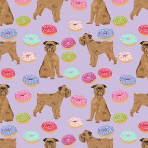 brussels griffon donuts fabric pastel purple donut design cute pet dogs fabric