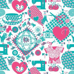 2017 Spoonflower T shirt // worldwide hearts & hands