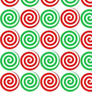 Christmas Candy Spiral Swirls