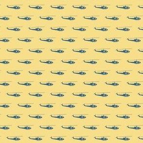 Huey Helicopter - Yellow