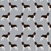 english spring spaniel dog fabric cute grey dogs fabric cute pet dogs dog fabric