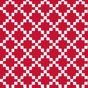 Doodle Quilt - Blocks-(cranberry)